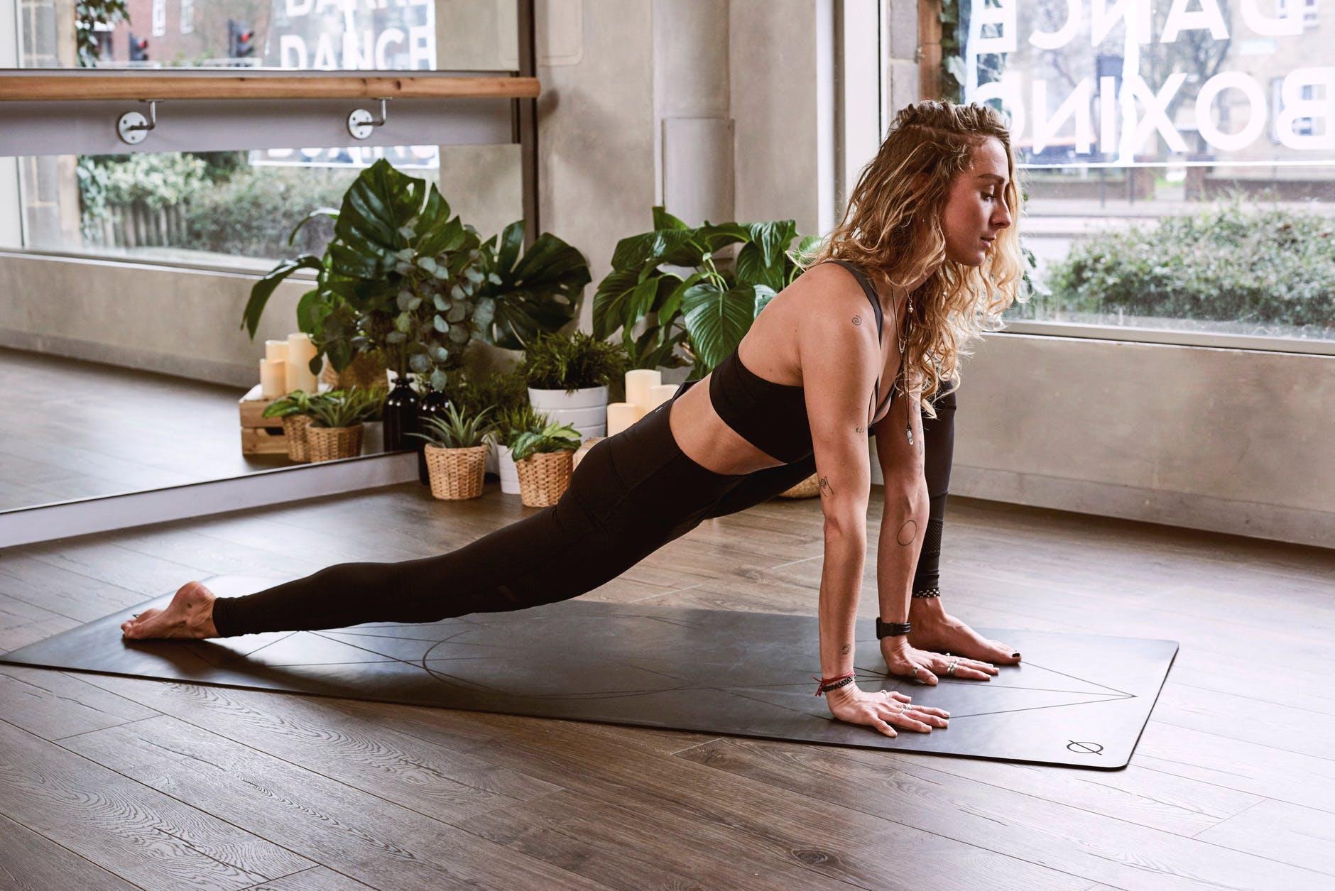 woman flexing her legs